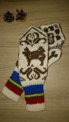 """Lapphound mittens"" Knitting Projects, Mittens, Gloves, Winter, Winter Time, Tejidos, Crocheting"