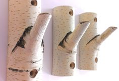 3 рс. Natural Branch Wall Hooks, Rustic Wooden Coat Hooks, Coat Rack, Birch Wooden Hook, Ructic Home Decor, Tree Log, Decorative Branches by WOODINDECOR on Etsy