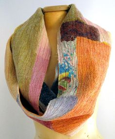 beautiful nuno felt infinity scarf for women by gaiagirard