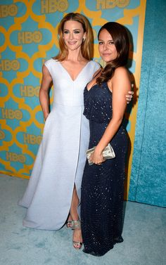 Actresses Bridget Regan and Yara Martinez attend HBO's Post 2015 Golden Globe Awards Party at Circa 55 Restaurant on January 11, 2015 in Los Angeles, California.
