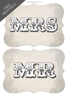We're sharing a fab printable today which we hope you'll have fun using for your wedding day - these rustic western style Mr & Mrs signs are great Pre Wedding Party, Diy Wedding, Wedding Ideas, Mr Mrs Sign, Rustic Wedding Photos, Wedding Photo Booth Props, I Do Bbq, Invitation, Wedding Bridesmaids