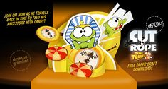 Cut the Rope Time Travel (Om Nom) OFFICIAL Papercraft – www.DesktopGremlins.com – Easy-to-build Free Papercraft, Paper Model, Paper Toys