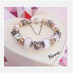 Go Hinna. Always love your Pandora work! Pandora Bracelets White Blanc Silver Argent Bijoux et charms à retrouver sur www.bijoux-et-charms.fr
