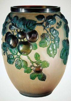 Vase by Art Nouveau Glass maker Emile Galle