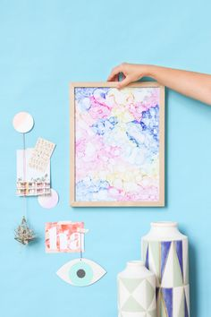 How to make color cloud art in under an hour with rubbing alcohol and markers