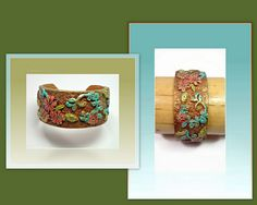 polymer clay Shabby Chic Cuff bracelet | Flickr - Photo Sharing! available in my Etsy shop:)