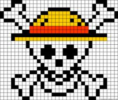 One Piece perler bead pattern