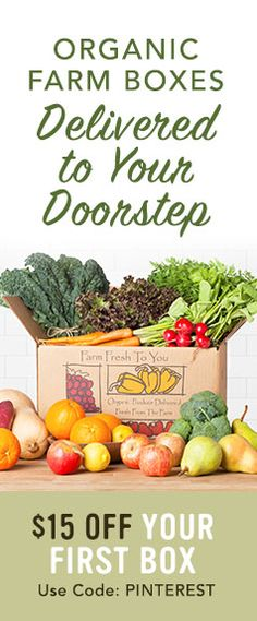 Farm Fresh To You sends you fresh, organic, sustainable produce to help you cook incredible farm to table meals at home. Start the new year off right with your first box.
