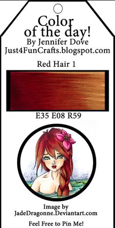 Just4FunCrafts and DoveArt Studios: Color of the Day ~ Red Hair 1