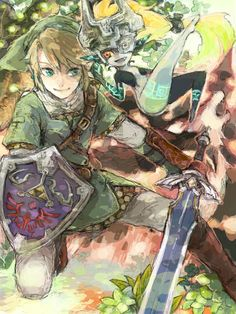 Link and Midna via クロム