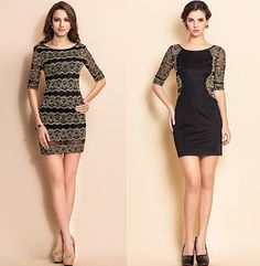 black-and-gold-lace-dresses