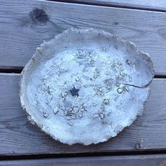 Ceramics Pottery / texture / plate / tray / white gray / by Ice Grey (Tokyo)