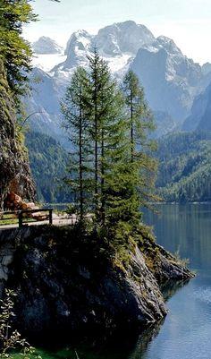 Lake Gosau with Dachstein mountain massif - Upper Austria, Austria
