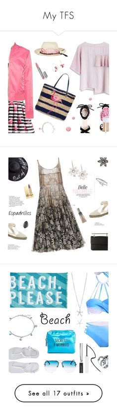 """""""My TFS"""" by annbaker ❤ liked on Polyvore featuring Chicwish, Schott NYC, Sydney Evan, Ibo-Maraca, Chantecaille, Draper James, Nails Inc., Nach Bijoux, Paule Ka and M2Malletier"""