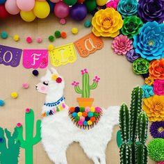 Llama Birthday, Fall Birthday, Boy First Birthday, 4th Birthday Parties, Birthday Party Decorations, Birthday Ideas, Taco Party, Fiesta Party, Alpacas