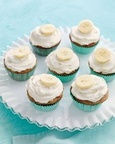 Banana Cupcakes with Honey-Cinnamon Frosting