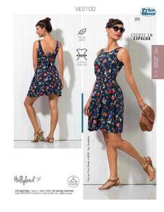 Vestido de Flores de la marca Holly land, catalogo Price Shoes. Vestido de moda para el verano