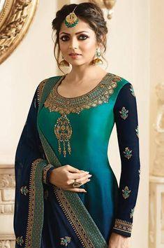 Party Wear Indian Dresses, Designer Party Wear Dresses, Indian Fashion Dresses, Indian Designer Outfits, Pakistani Dresses, Indian Outfits, Indian Gowns, Indian Wear, Dress Neck Designs