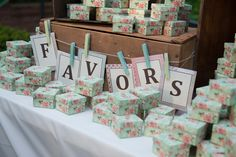 Vintage favors table by Southern Event Planners, Memphis Weddings Event Planners, Memphis, Favors, Southern, Gift Wrapping, Weddings, Table, Gifts, Vintage