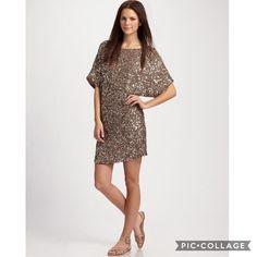 $500 Vince Metallic Cluster Sequin Dress