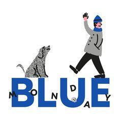 Blue Monday / illustration Michal Loba