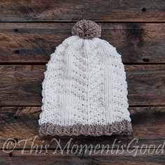 Loom Knit Broken Herringbone Hat Pattern. So Pretty!