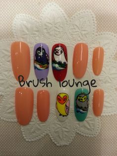 Brush lounge nail shop were attend a formal function of jardin de chouette 2014 S/S