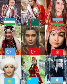 Turkish People, Turkish Actors, Beautiful Muslim Women, Beautiful People, Turkic Languages, The Turk, Beauty Around The World, People Around The World, World Cultures