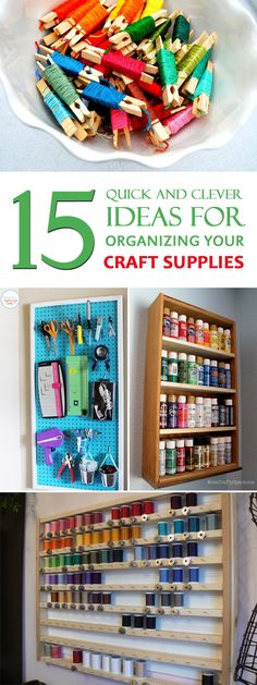 Easy DIY ideas that will keep all of your craft supplies easy-to-grab and clutter-free.