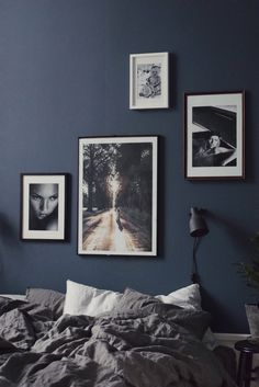 Masculine bedroom | dark bedroom | guy's bedroom | men's bedroom | moody atmosphere | The Good Sheet