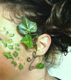 Here I have made a green ivy ear cuff for Poison Ivy fancy dress or tree people, mother nature goddess, nature elven dress coustume  The Ivy leaves will be the same as in this picture I have used strong wire to hold in place then neatly wrapped green florest tape so the fnished product looks neat and tidy. The colour vine in the picture is mid green  ORDERING Just pick a colour vine you would like from the drop down list above and if you want right or left ear cuff, if you purchase both you…