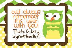 FREE Teacher Thank You Card, FREE Teacher Appreciation Card