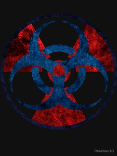 The symbol of biohazard and radioactive combined into one design, if you like both designs then this is the right product for you.