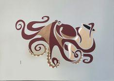 Découpe papier format 50X70, 2021 série Seafood Illustration, Creations, Artisan, Scene, Blanket, Brittany, Atelier, Sailors, Papercutting