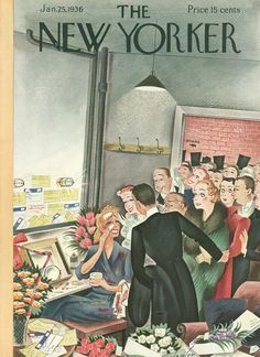 The New Yorker - Saturday, January 25, 1936 - Issue # 571 - Vol. 11 - N° 50 - Cover by : Constantin Alajalov