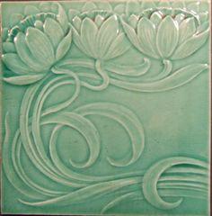 Motifs Art Nouveau, Azulejos Art Nouveau, Art Nouveau Tiles, Art Nouveau Design, Art Tiles, Ceramic Tile Art, Craftsman Style, Craftsman Artwork, Vintage House Plans