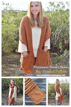 Crochet Shawl, Free Crochet, Apple Picture, Crochet Accessories, Hand Warmers, Free Pattern, Crochet Patterns, Stitch, Pocket