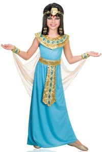 Turquoise Queen Cleopatra Girls Costume - Egyptian Costumes
