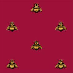 Timorous Beasties Napoleon Bee Wallpaper - RED all the way