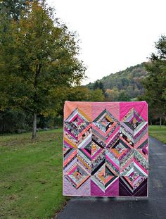 String Quilt by Maureen Cracknell using Rockin' Romance fabric.