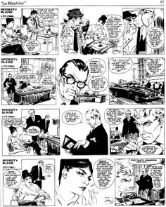 """""""La Machine."""" The very first MODESTY BLAISE comic adventure (originally published in the Evening Standard 13/5/1963-21/9/1963)  -- 9  Story by Peter O'Donnell, illustrated by Jim Holdaway"""
