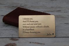 Maybe a cute gift for the groom on the wedding day?