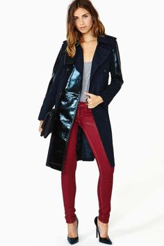 Slick Nights Trench Coat