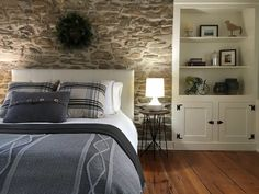 Stone Interior, Interior Design, Interior Ideas, Stone House Revival, Stone Accent Walls, Natural Stone Wall, Stone Cottages, Stone Houses, Accent Wall Bedroom
