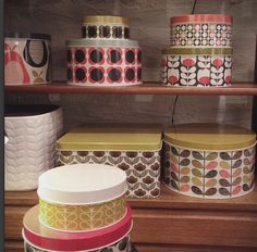 Regram: @futuraclassics assorted cake tins ❤️ #orlakiely