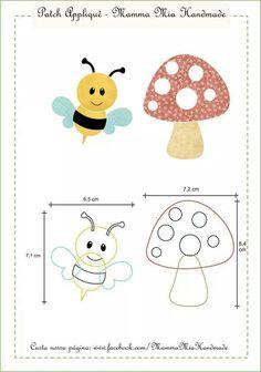 Abelhinha e cogumelo