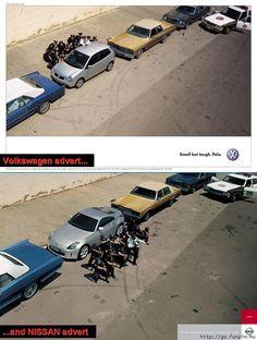 Brand War: Volkswagen vs Nissan.