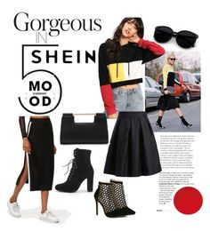 """""""Shein cut and sew crop hoodie"""" by simbarosse ❤ liked on Polyvore featuring Current Mood"""