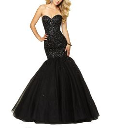 Beyonddress Mermaid Heavy Beaded Sequin Prom Dress Long Evening Gown 24 Black. Tulle fabric;Dry clean only. About the size information, please refer to the left size chart US2 to US26w, DO NOT use Amazon size chart or the size you normally wear. Beaded Floor Length Pleated Prom Dress Evening Gowns. Suitable as prom dresseses, cocktail dresses, evening dresses, homecoming dresses and other formal dresses. Designer's Style 2016 Sexy Beaded Mermaid.