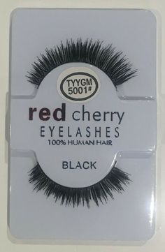 c4f9b72ea16 1-10x Pairs Red Cherry Eyelashes 100 Human Hair High Quality False Lashes  Wispy #